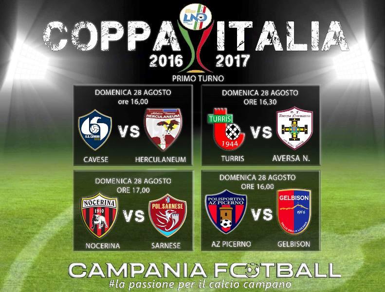 LIVE: 1° TURNO COPPA ITALIA SERIE D