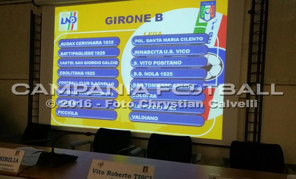 Eccellenza Girone B 2016/17: calendario completo