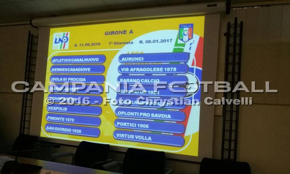 ECCELLENZA GIRONE A 2016/17: prima giornata