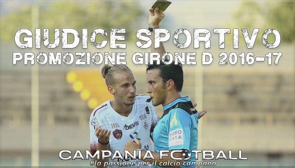 Promozione Girone D: Giudice Sportivo 24ª Giornata