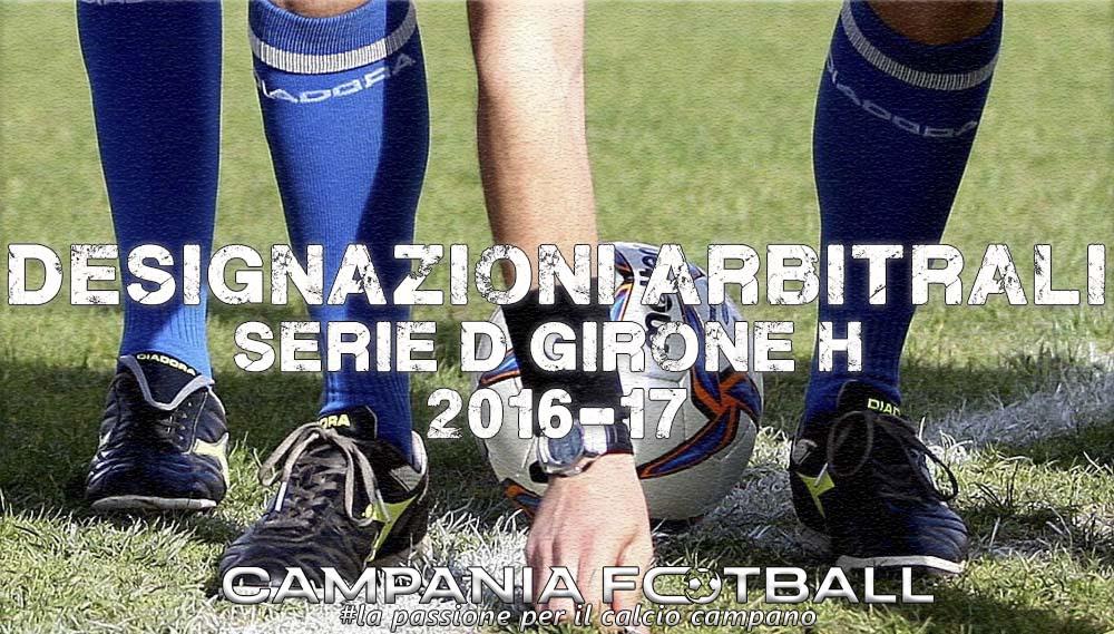 Serie D gir H : designazioni arbitri 9^ giornata