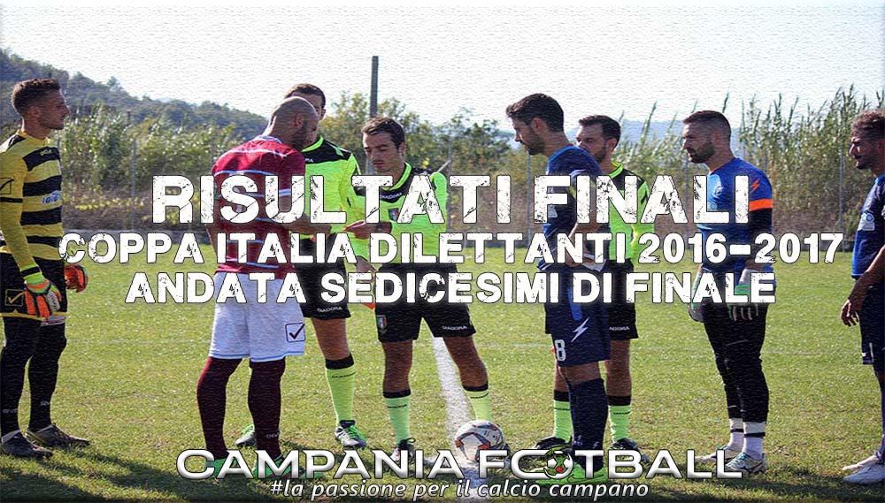 Coppa Italia Dilettanti, andata sedicesimi: risultati finali