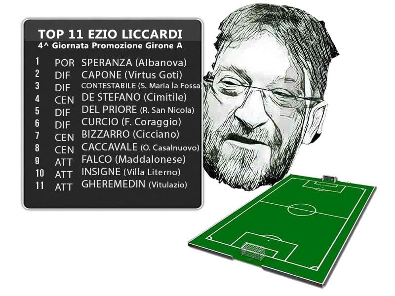 Top 11 Ezio Liccardi: 4^ Giornata Promozione Girone A
