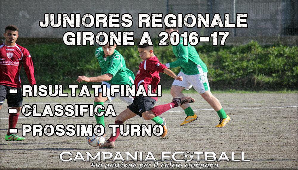 Juniores Regionale Girone A, 9ª Giornata: risultati gare, classifica e prossimo turno