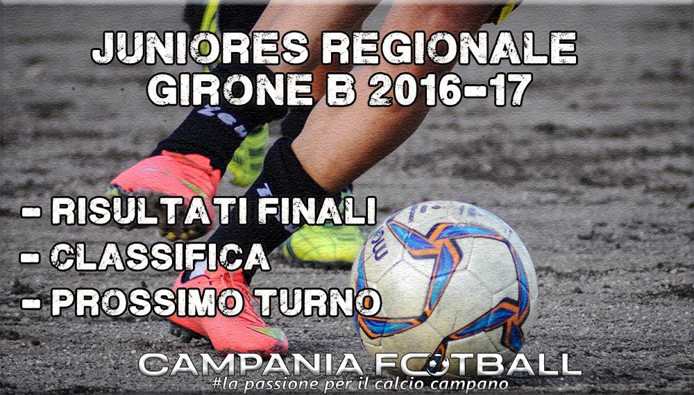 Juniores Regionale Girone B, 19ª Giornata: risultati gare, classifica e prossimo turno