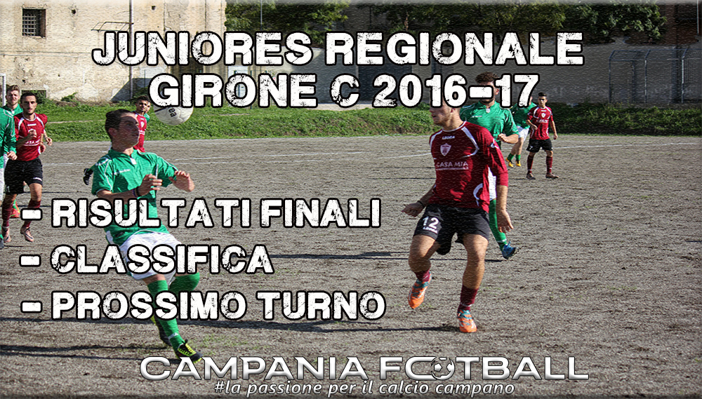 Juniores Regionale Girone C, 15ª Giornata: risultati gare, classifica e prossimo turno.