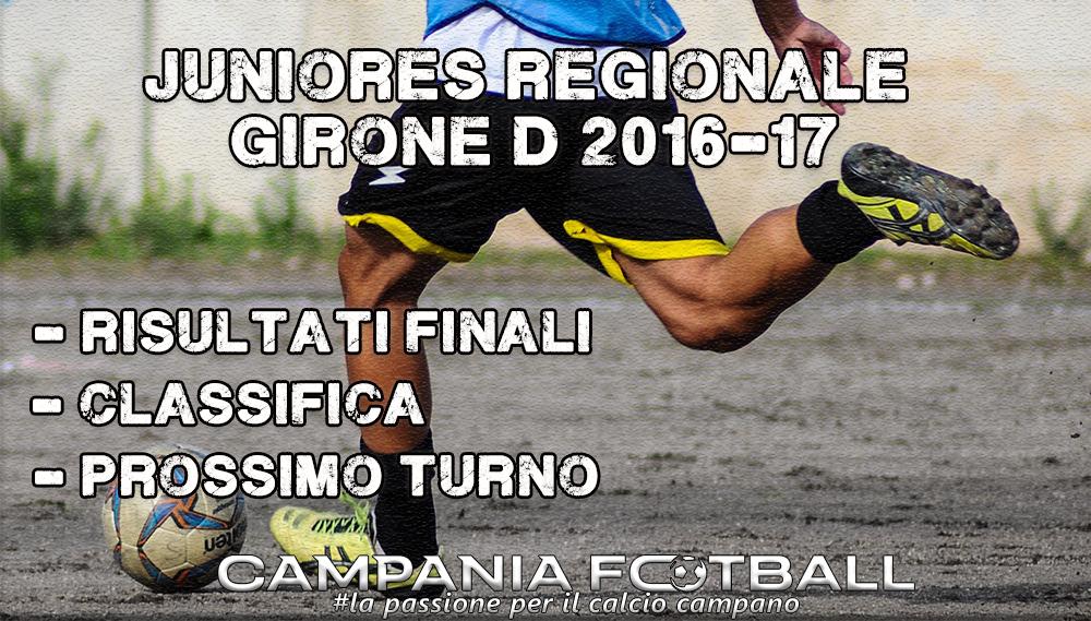 Juniores Regionale Girone D, 12ª Giornata: risultati gare, classifica e prossimo turno