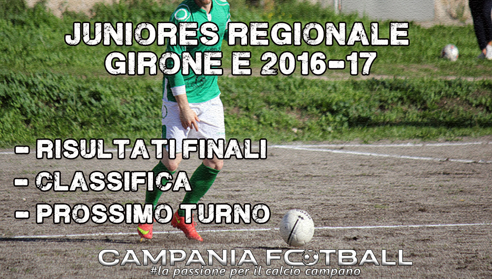 Juniores Regionale Girone E, 16ª Giornata: risultati gare, classifica e prossimo turno