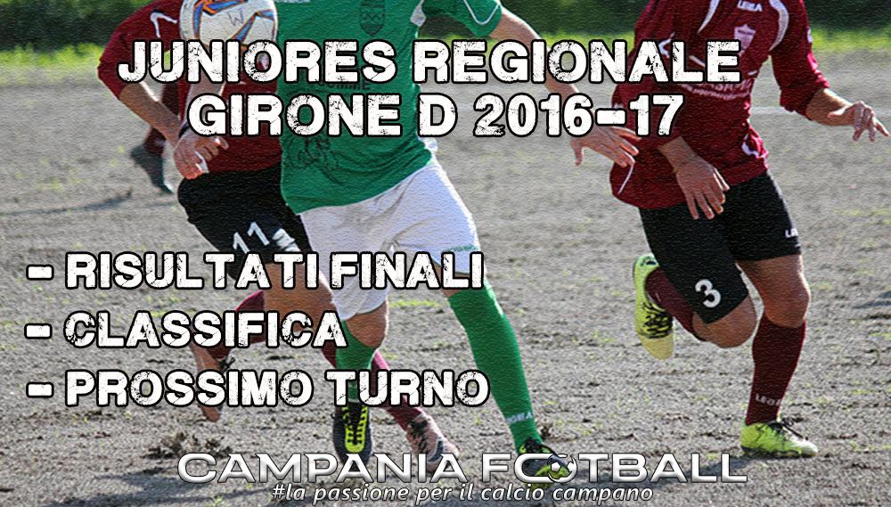 Juniores Regionale Girone D, 6ª Giornata: risultati, classifica e prossimo turno