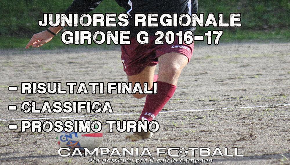 Juniores Regionale Girone G, 11ª Giornata: risultati gare, classifica e prossimo turno