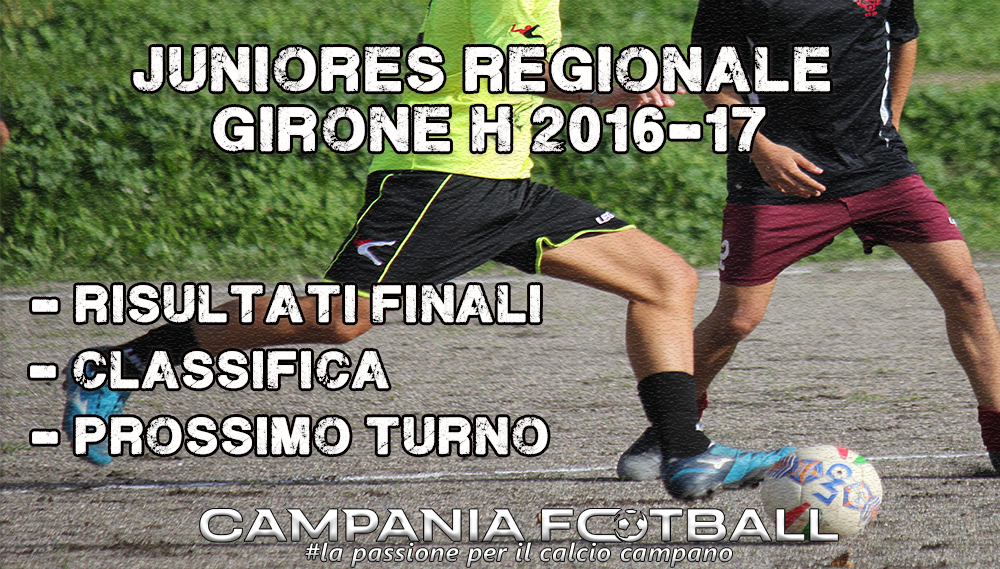 Juniores Regionale Girone H, 15ª Giornata: risultati gare, classifica e prossimo turno.