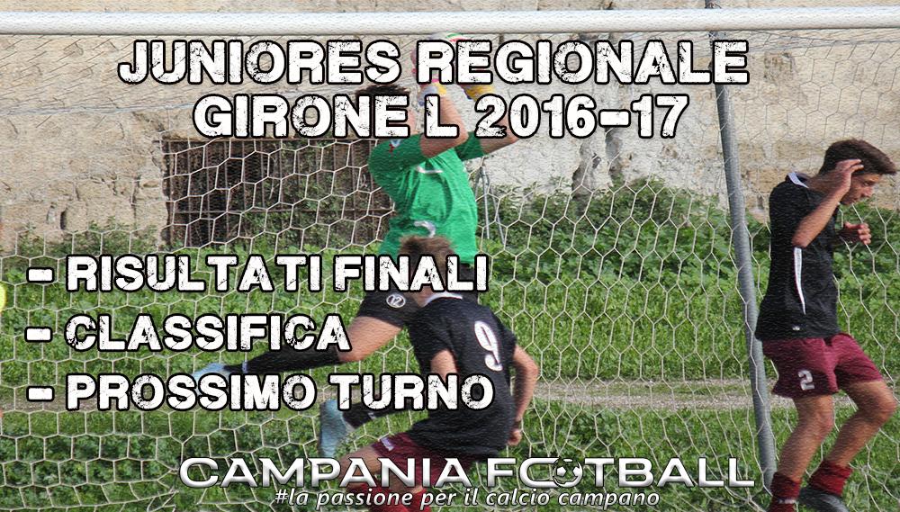 Juniores Regionale Girone L, 15ª Giornata: risultati gare, classifica e prossimo turno.