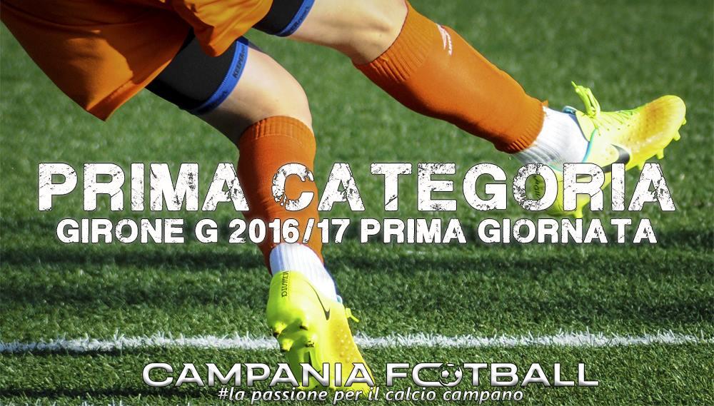 1^CATEGORIA GIRONE G, 1^GIORNATA: RISULTATI FINALI E CLASSIFICA