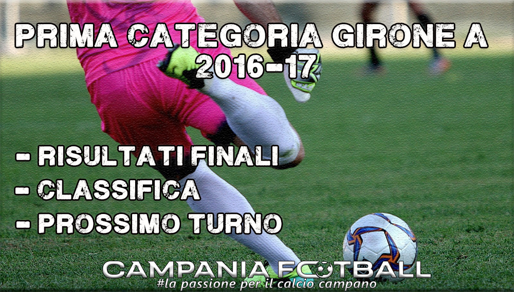 1^CATEGORIA GIRONE A, 28^GIORNATA: RISULTATI FINALI E CLASSIFICA
