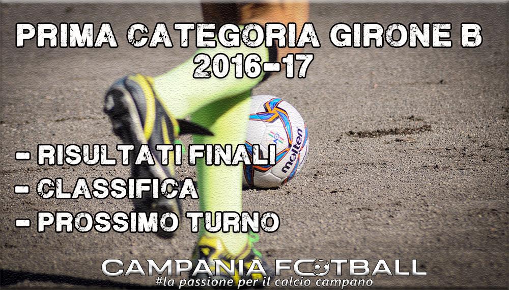 1^CATEGORIA GIRONE B, 12^GIORNATA: RISULTATI FINALI, CLASSIFICA E PROSSIMO TURNO
