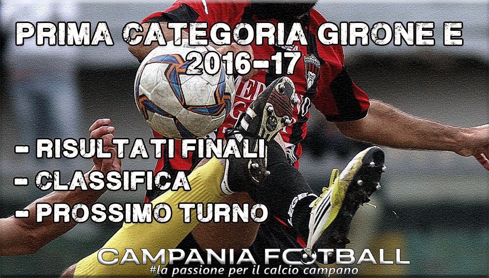 1^CATEGORIA GIRONE E, 9^GIORNATA: RISULTATI FINALI, CLASSIFICA E PROSSIMO TURNO