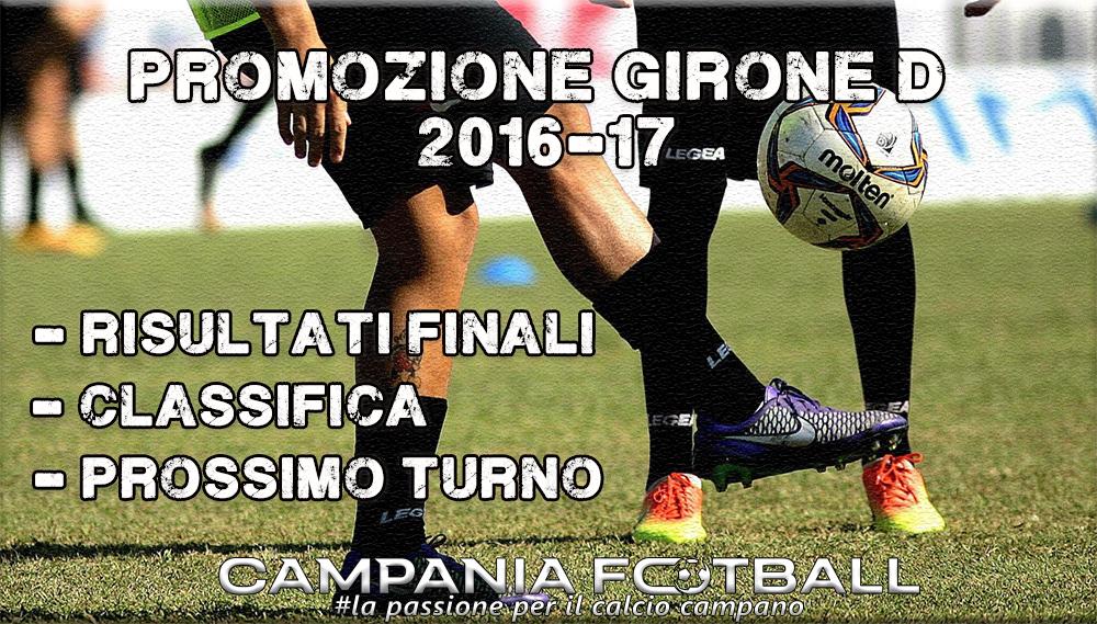 PROMOZIONE GIRONE D, 9^GIORNATA: RISULTATI FINALI, CLASSIFICA E PROSSIMO TURNO