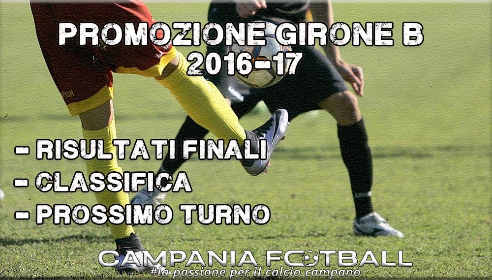 PROMOZIONE GIRONE B, 20^GIORNATA: RISULTATI FINALI, CLASSIFICA E PROSSIMO TURNO