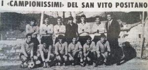 Una foto della squadra del Positano edizione 1969/1970 tratta dal quotidiano Il Mattino (archivio Barba)