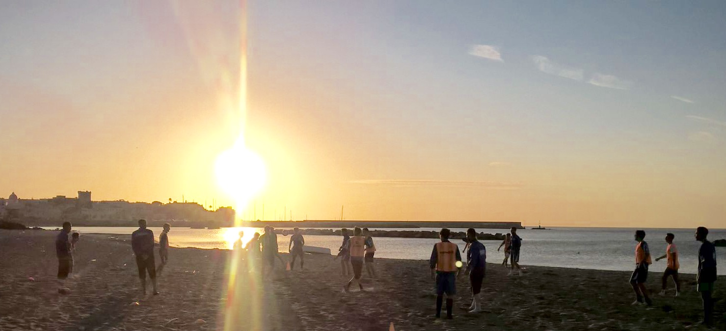 Il Real Forio si allena in spiaggia