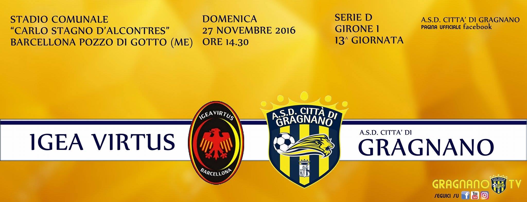 Serie D Girone I: Verso Igea Virtus – Gragnano