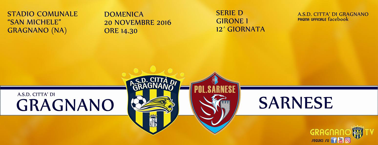 Verso il derby Gragnano-Sarnese …