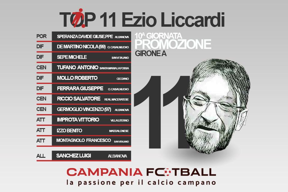 TOP 11 EZIO LICCARDI: Promozione Girone A 10ª Giornata