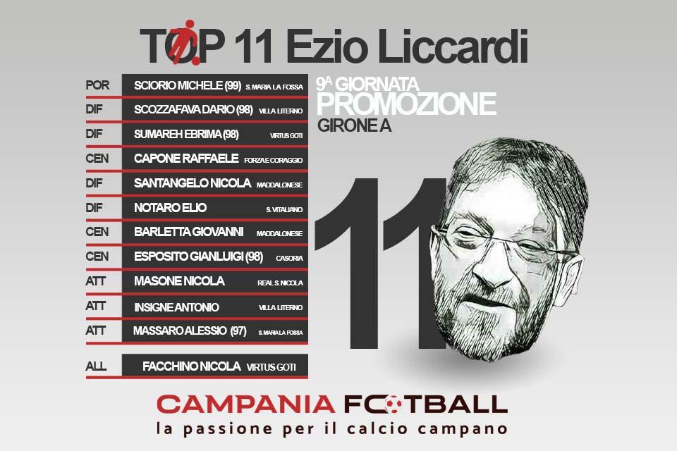TOP 11 EZIO LICCARDI: 9^ Giornata Promozione Girone A