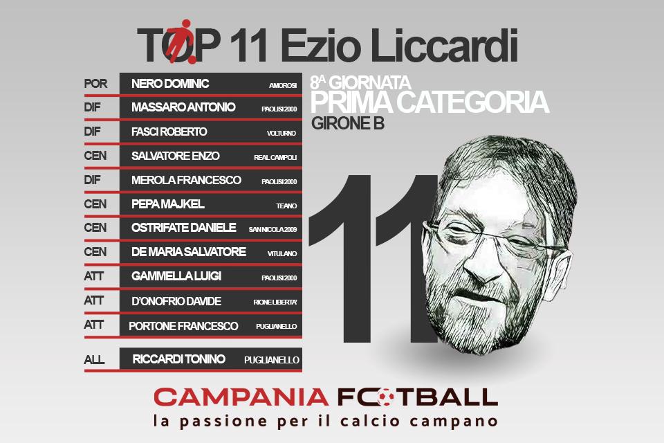 TOP 11 EZIO LICCARDI: 8ª gironata Prima Categoria Girone B
