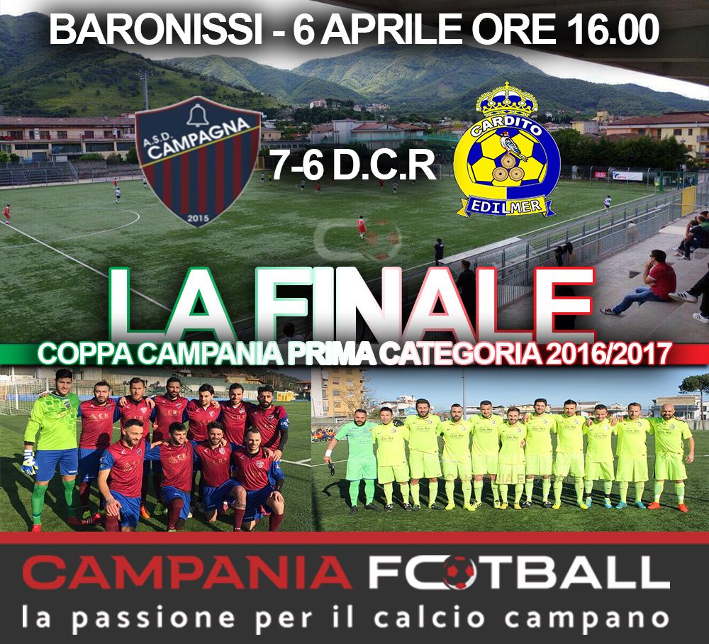 Coppa Campania 1ª Categoria: Campagna finale col brivido ma la Coppa è tua