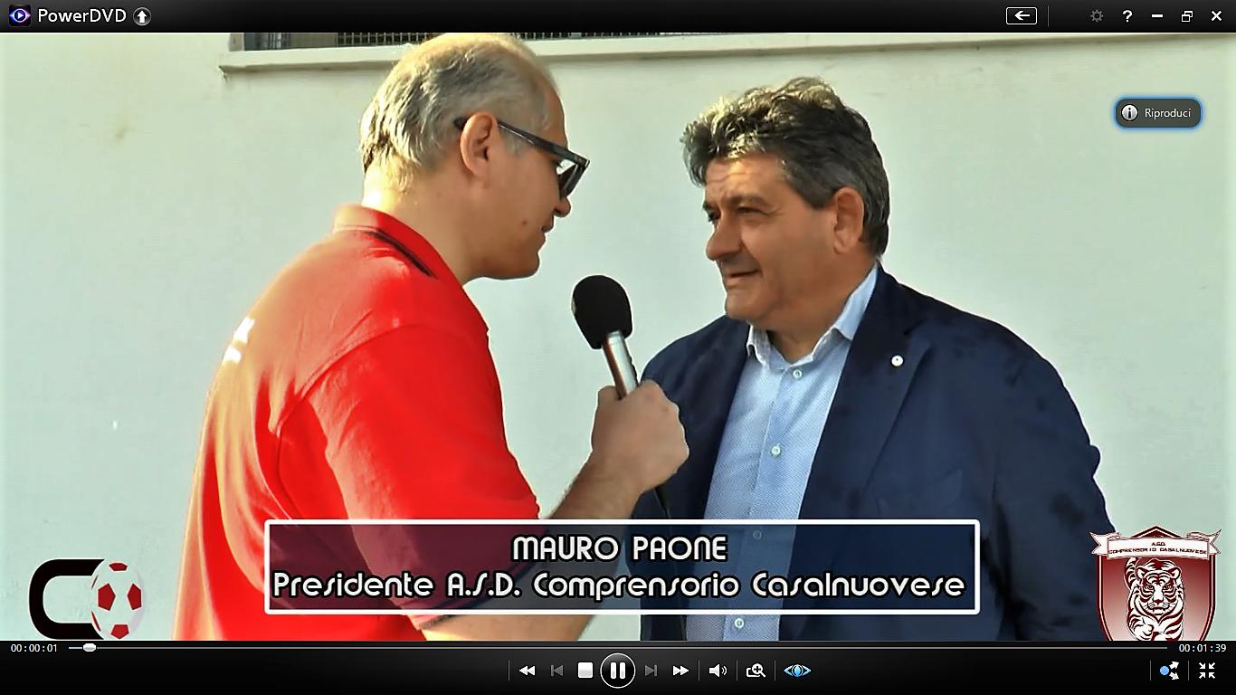 VIDEO   Comprensorio Casalnuovese   dichiarazioni patron Mauro Paone