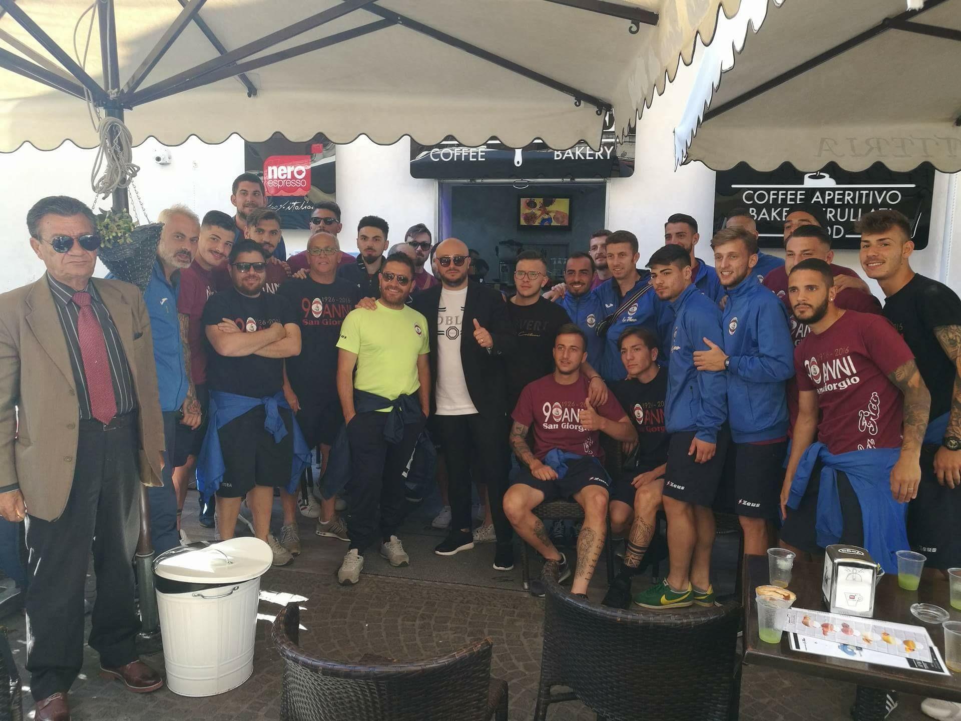 """San Giorgio, la carica di Fico alla squadra: """"Tornate vincitori"""""""