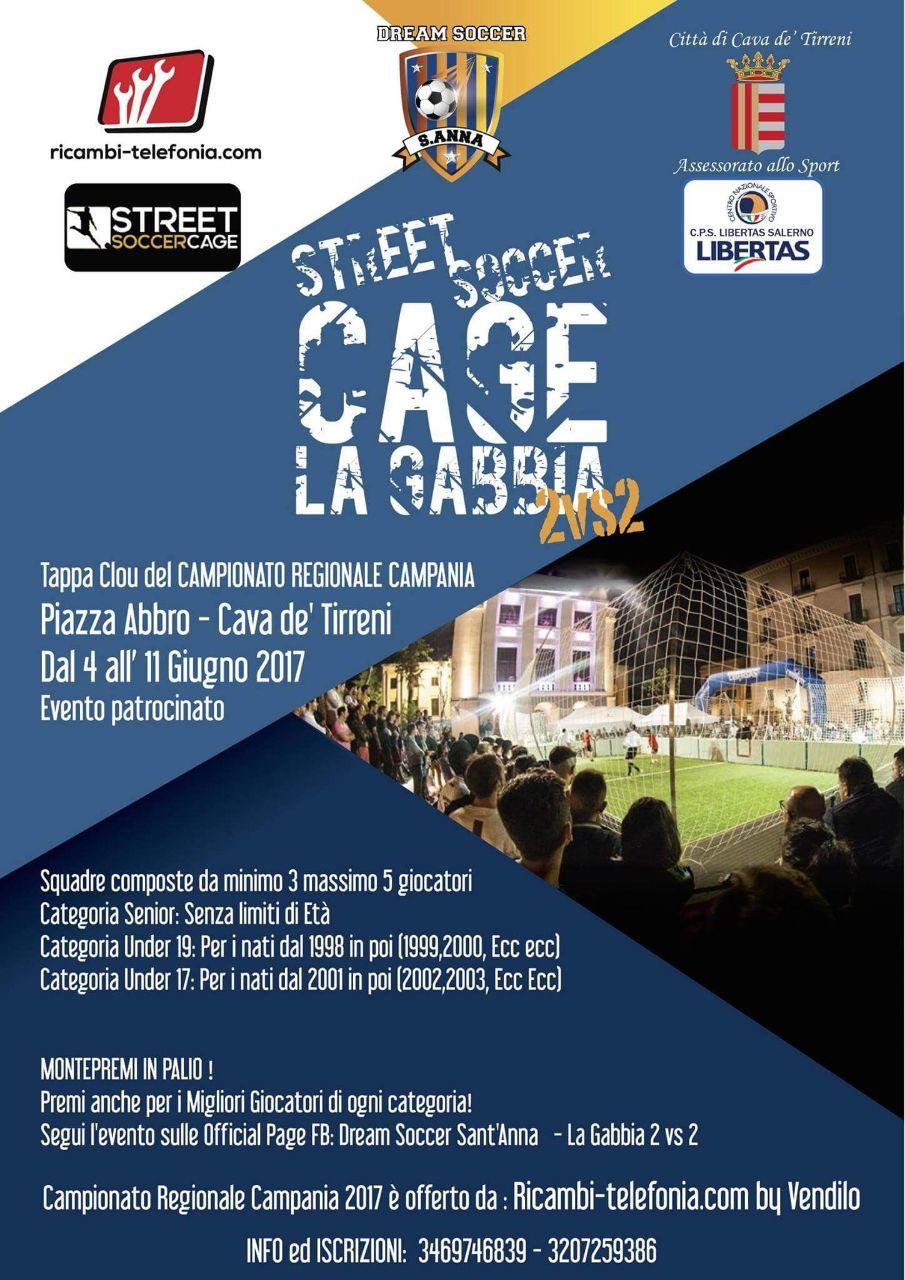 A Cava de' Tirreni arriva La Gabbia: tappa clou del campionato Street Soccer Cage 2vs2