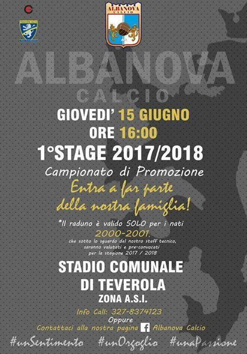 Albanova 2.0 viaggio nel futuro: primo stage per i 2000 e i 2001
