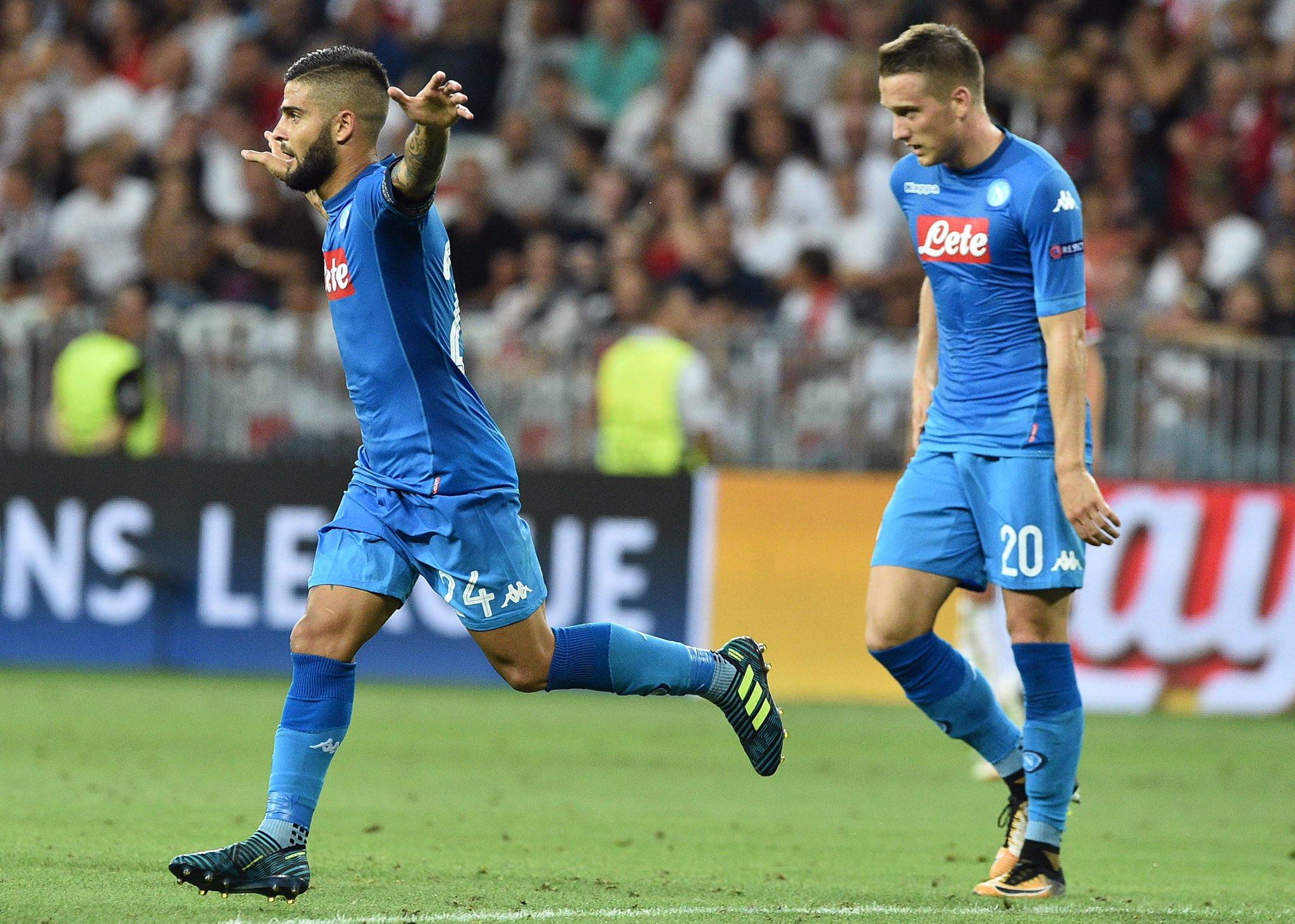 Callejon e Insigne: il Napoli vola ai gironi di Champions League