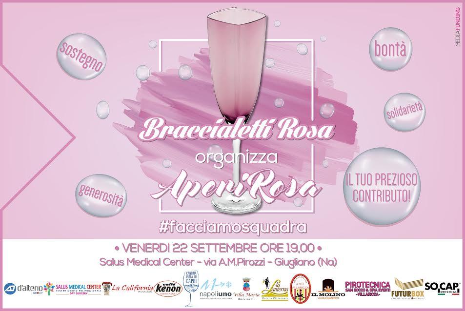 """""""AperiRosa"""": Venerdi l'evento promosso da """"Braccialetti Rosa"""" per sostenere le donne malate di cancro"""