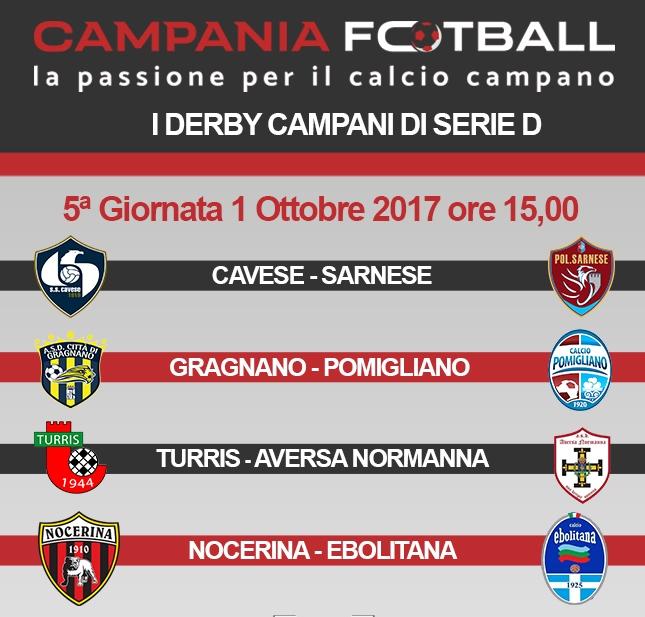 Campania protagonista in Serie D: in programma 4 derby