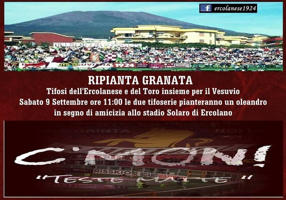Ripianta Granata: la manifestazione dei tifosi ercolanesi e torinesi