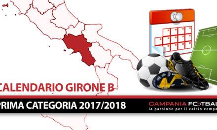 PRIMA CATEGORIA 2017/18 GIRONE B + CALENDARIO COMPLETO