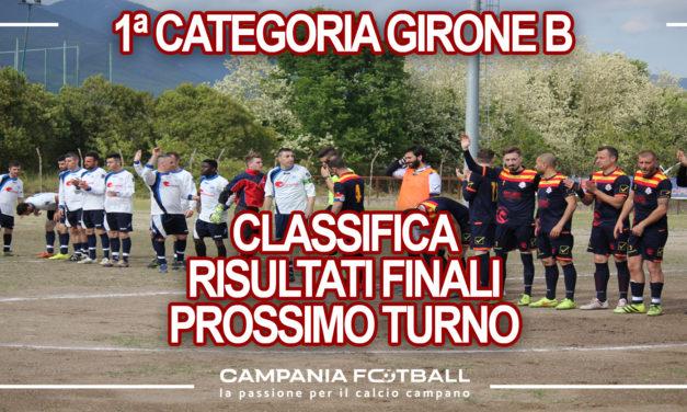 PRIMA CATEGORIA GIRONE B: Risultati 21° Giornata, classifica e prossimo turno