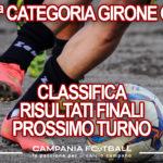 PRIMA CATEGORIA GIRONE G: Risultati 30ª Giornata, Classifica e Verdetti Finali