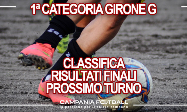 PRIMA CATEGORIA GIRONE G: Risultati 30ª Giornata, Classifica e Verdetti Finali