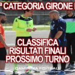 PRIMA CATEGORIA GIRONE E: Risultati 34ª Giornata, Classifica e Verdetti Finali