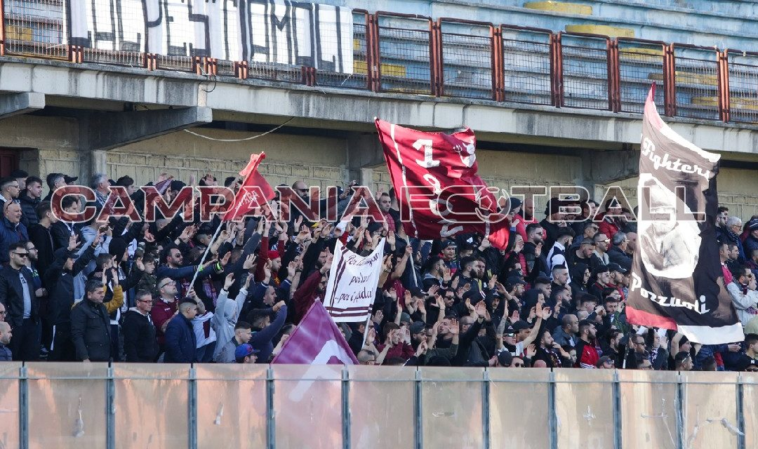 Giugliano-Puteolana: vietata la trasferta ai tifosi granata