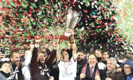 """La Coppa è biancoscudata! Gallo porta in trionfo il Savoia: al """"Torre"""" il Nola si arrende ai rigori"""