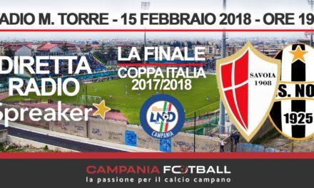 FINALE COPPA ITALIA | Savoia-Nola: radiocronaca in diretta
