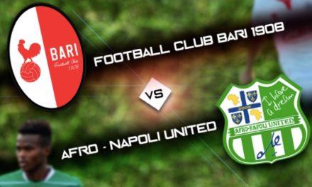 Afro-Napoli United tra i professionisti per un giorno, organizzata un amichevole con la Primavera del Bari