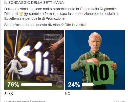 Sondaggio nuovo format Coppa Italia regionale, il sì dei nostri lettori