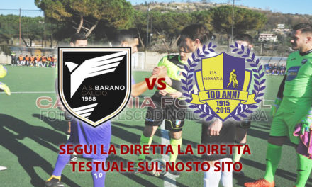 LIVE | Eccellenza Girone A, Play Out: Barano-Sessana