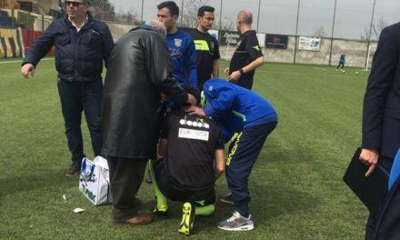 Gragnano-Picerno, scontro tra assistente e calciatore: gara posticipata